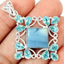 Owyhee Opal & Blue Topaz 925 Silver Pendant Jewelry SP208710