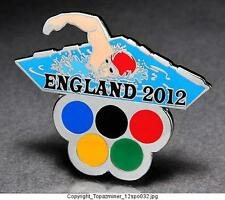 OLYMPIC PINS 2012 ENGLAND U.K. SPORT OF SWIMMING SWIMMER - FREESTYLE - SILVER