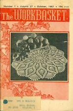 1961 The Workbasket Magazine: Pineapple Fan Doily/Lobster Claw Mitt/Doll Clothes