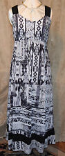 STYLE & CO. SO PRETTY  SLINKY MAXI DRESS WITH STRAP DETAIL BLACK/WHITE XL/OX NEW
