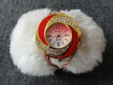 Christi Quartz Ladies Watch - Red and Gold in Color - Pretty!