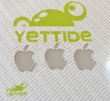 3 PCS Silver Apple Metal Logo Sticker Decal for iPhone 6 iPhone 5 5s 5c