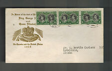 1939 Ottowa Canada  cover to Ketchikan Alaska USA King George 6 KGVI Royal Visit