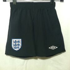 Umbro England Futbol Athletic Shorts YOUTH Size S Small Lined Black Sewn EUC
