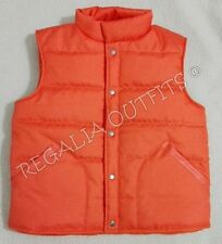 Marty Mcfly Back to the Future Puffer Orange Vest Jacket Halloween Costume