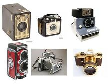 WHOLESALE LOT OF 6 Flexible Fridge Magnet Photos of Old Time Cameras