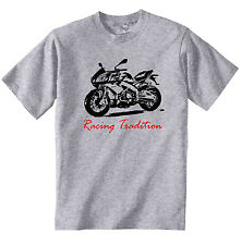 APRILIA TUONO 2012 INSPIRED RACING P - COTTON GREY TSHIRT - ALL SIZES IN STOCK