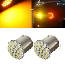 2x 1156 BA15S HOT 2016 Rear Light 22 LED Turn Signal Yellow/Amber Lamp Bulb SMD