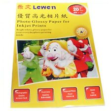 """20 Sheets Photo Paper A6 Size  High Glossy 4""""x6"""" For Hp Cannon Dell Printer"""