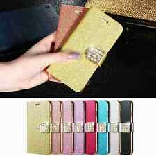 "Leather Wallet Bling Diamond Cover Case Card Slot Stand Holder For 4.7"" iPhone 7"
