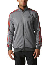 Adidas Mens Gym Essential Key Tricot Track Suit Jacket Heathered Grey SZ 2XL