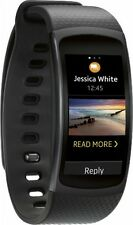 Samsung - Gear Fit2 Fitness Watch + Heart Rate (Large) - Black - SM-R3600DAAXAR