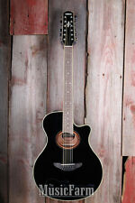 Yamaha APX700II 12 String Thinline Cutaway Acoustic Electric Guitar w ART Black
