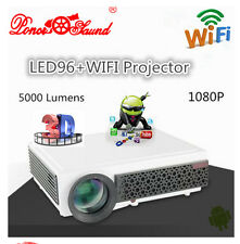 Full HD-MI 5000Lx LCD LED Wifi 3D Home Theater Projector Cinema Multimedia 1080P