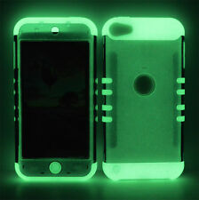 Clear Smoke Hard Cover Glow in Dark Impact Case for Apple iPod Touch 5 5th Gen