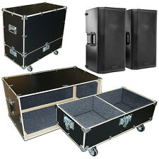 Road Case Kit w/Bare Wood Edges Fits 2 QSC K12 K-12 Speakers - 2 Compartments