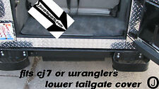 JEEP CJ7-TJ OR YJ WRANGLER DIAMOND PLATE LOWER REAR TAILGATE COVER