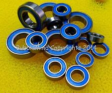 (10 PCS) TAMIYA F-103LM / F103LM Rubber Sealed RC Ball Bearing Set (Blue Color)