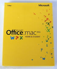 Microsoft Office MAC 2011 Home and Student 1/Mac - COA included - NEW in BOX