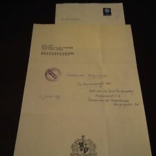 Adelbertus van der Wielen OSB dal 1967 abate Egmond (NLD) signed lettera 20x30