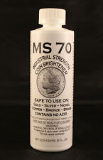 COIN CLEANER / BRIGHTENER - MS70 - GOLD, SILVER, NICKEL, COPPER - 8 oz. Bottle