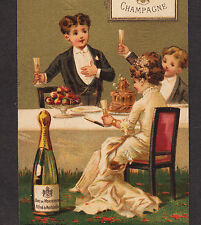 1800's Burchell Washington DC Duc de Montebello Champagne Advertising Trade Card