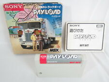 MSX PAY LOAD Japan Game 22130 msx