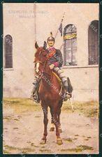 Militari Dragoni Cavalleria Uniforme cartolina QT8017