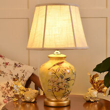 European Ceramic Table Lamp Bedside Lamp Desk  Lamp Country Style Light Yellow