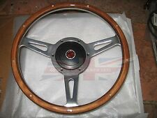 "New 13"" Wood Steering Wheel and Adaptor for MGB 1970-1976 MG Midget 1970-1977"
