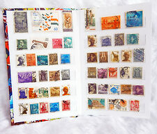 Stamp Album with 50 Different Old Catalogue India Postage Stamps Rare Collection