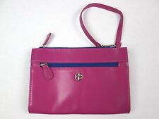Giani Bernini Women's Recycled Leather Wristlet Wallet Bag Purse Purple Pink $58