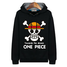 Anime One Piece Luffy Straw Hat Hooded Sweatshirt Casual Unisex Hoodie Hoody #BC