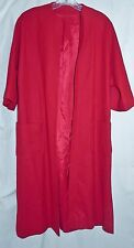 Vintage 1960's 3/4 sleeve Red Wool Clutch Coat Duster M