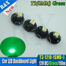 4 x T3 Neo Wedge Green SMD Car Instrument Cluster Panel Lamps Gauge LED Bulbs