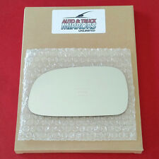 NEW Mirror Glass + ADHESIVE 93-97 TOYOTA COROLLA Driver Left Side **FAST SHIP**