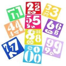 10Pcs Number Graphics Symbols Drawing Template Stencil Ruler Stationery Kids Toy