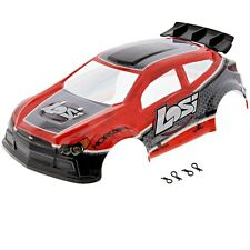 Losi 1/24 Micro Rally X 4WD * RED & GRAY BODY, WING & CLIPS * Cover Shell SCTE