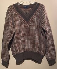 Polo Ralph Lauren Men's Vintage Winter V-Neck Sweater | 100% Wool | Size M | EUC