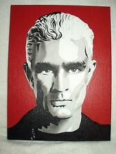 Canvas Painting James Marsters as Spike from Buffy B&W Art 16x12 inch Acrylic