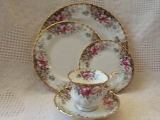 Royal Albert AUTUMN ROSES One 5 PC Place Setting England Bone China GREAT GIFT