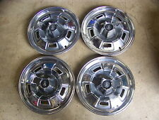 "1967 68 69 PLYMOUTH BARRACUDA 14"" HUB CAPS WHEELCOVERS  FURY VALIANT DELUXE - 4"