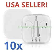 10x LOT Earpods Earphones Earbuds Headsets Remote & Mic for Apple iPhone