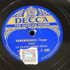 78rpm LA PLATA TANGO BAND remembrance / i saw you dance a tango