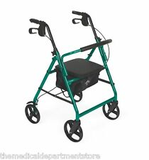 Medline Rollator Rolling Wheeled Walker  4 Wheel With Seat Foldable MDS86850EGS