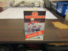 NHL Montreal Canadiens Circa 1983-1984 Pocket Schedule