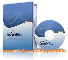 Open Office Program CD Compatible With MS Word & Excel & Power Point for MAC