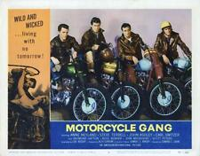 """MOTORCYCLE GANG""-ORIGINAL LOBBY CARD-JOHN ASHLEY-FANTASTIC BIKER CARD!"
