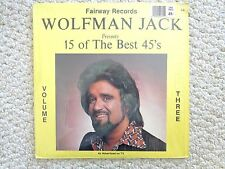 """This is """"15 of the Best 45'S"""" of WOLFMAN JACK LP ALBUM VOL. #3 (#2133).#1547"""