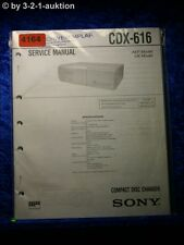 Sony Service Manual CDX 616 CD Changer (#4164)